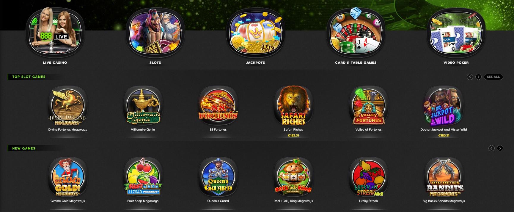 Games in 888casino | World Casino Expert